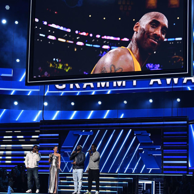 """""""We're literally standing here, heartbroken in the house that #KobeBryant built."""" Alicia Keys and Boyz II Men kicked off tonight's Grammy Awards at the Staples Center with an emotional tribute to the five-time NBA champion. Full story at the link in bio."""