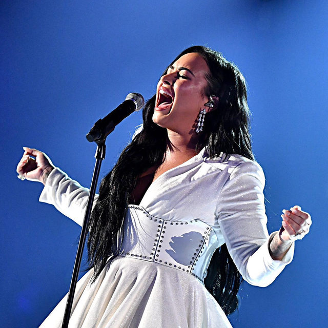 "Demi Lovato just brought the house down at the #Grammys with a powerful performance that earned her a standing ovation 🙌🏼 Watch her tearful rendition of ""Anyone"" at the link in bio."