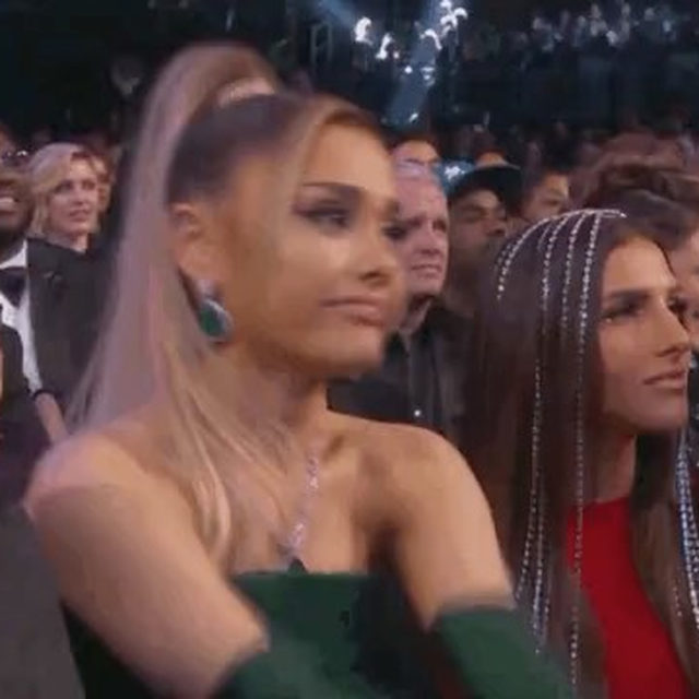 Billie Eilish really thought Ariana Grande was going to win Album of the Year at the #Grammys. All we can say is, we're so f—ing grateful for women supporting other women. ❤️(📷: CBS)