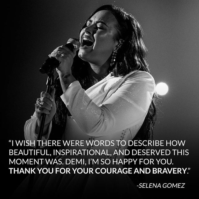 Beautiful, inspirational, deserved—Selena Gomez hit the nail on the head with this one. ❤️ #Grammys (📷: Getty)