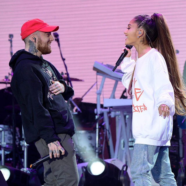 Ariana Grande gave a sweet nod to her ex, the late Mac Miller, following last night's #Grammys. Link in bio to see the way she chose to honor Mac. 💕(📷: Getty)