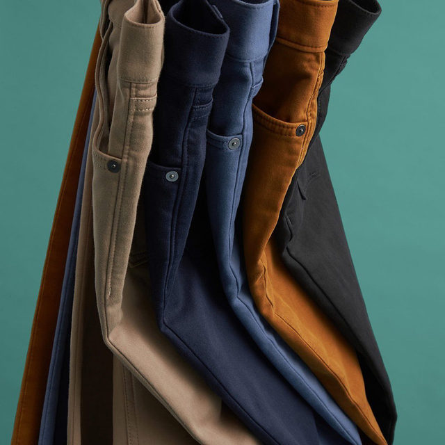 Game-changing style. Winning comfort. Head to Stories to find out why guys are betting on our pants.