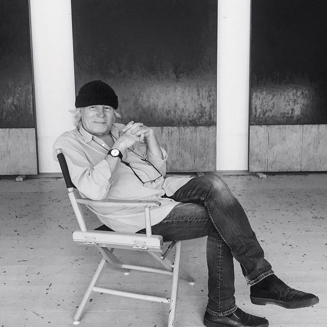 """""""Think of Them as Spaces: Brice Marden's Drawings"""" opens on Friday, February 21, at the Menil Collection in Houston. On the occasion of the opening, Brice Marden will discuss his drawing practice with curator Kelly Montana at the museum from 7 to 8pm.  The pair will explore Marden's manifold approach to draftsmanship in the six distinct series of drawings in the exhibition that span nearly the entirety of the artist's ongoing career. The event is free and open to the public. Learn more via the link in our bio.  __________ #BriceMarden #Gagosian @menilcollection @planeimage @mirabellezahara  Brice Marden in his studio, Tivoli, New York, 2017. Photo: Mirabelle Marden"""