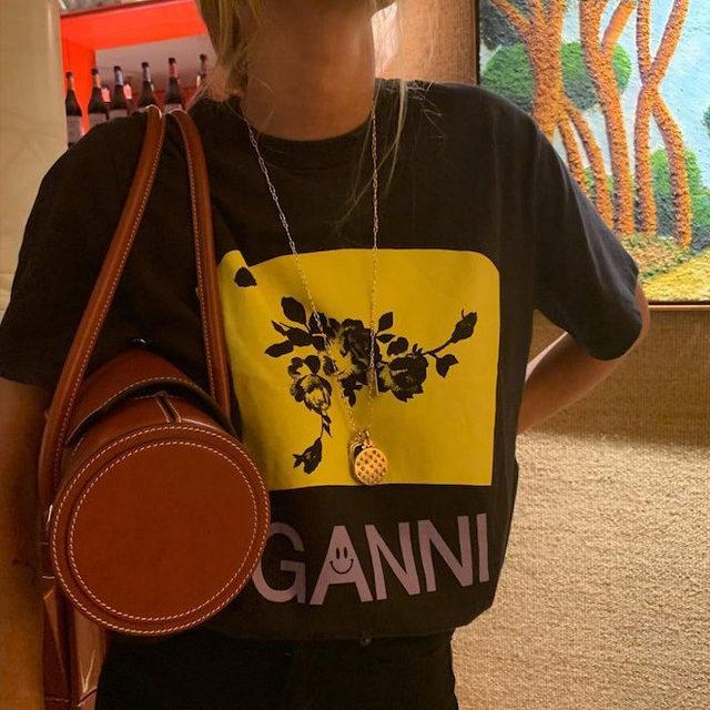 @blancamiro in our SS20 printed t-shirt Dropping soon #GANNIGirls #GANNIDOUBLELOVE #ganni