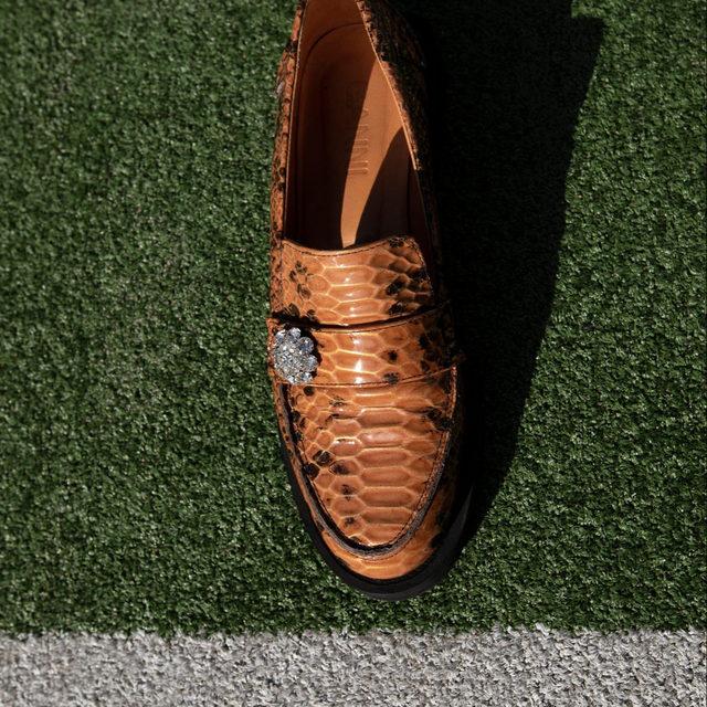 🧡 Jewel Moccasin Loafers #gannidoublelove #ganni