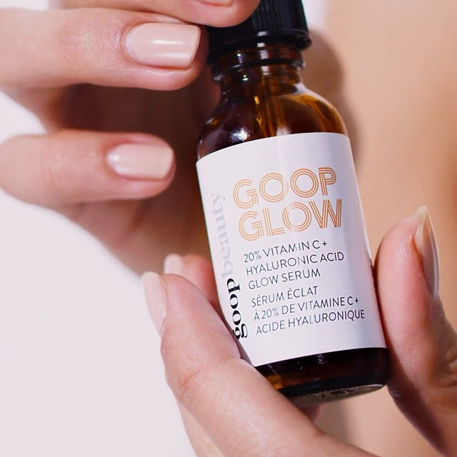 We are SHOOK over here #goopHQ—the results we're getting with the new #GOOPGLOW Vitamin C + Hyaluronic Acid Glow Serum are even glowier than we'd expected:   ✔️100% showed dramatic improvement in skin hydration after one use.   ✔️90% said their skin looked and felt better.  ✔️90% said their skin looked and felt smoother.  There's nothing like it: You mix the contents of the two bottles together (one's the most effective form of vitamin C; the other's a hydrating hyaluronic acid serum), right before your first use so it stays potent and active all the way to the last drop. It's a totally clean, superpowered, no-filler, all-glow serum that leaves your skin radiant, moisturized, heathy-looking, smooth, brightened, and refined.   Link in bio to get glowing. (Results are based on twice-daily use for four weeks in a clinical and consumer study of fifty-five women ages twenty-seven to fifty.)✨