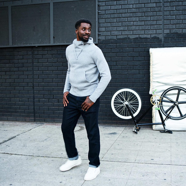 """""""This hoodie is great for a workout, getting a sandwich or just walking around the block,"""" says Mike Willie, community activist and role model in our February Bold Vision shoot. Check it out via the link in our bio."""