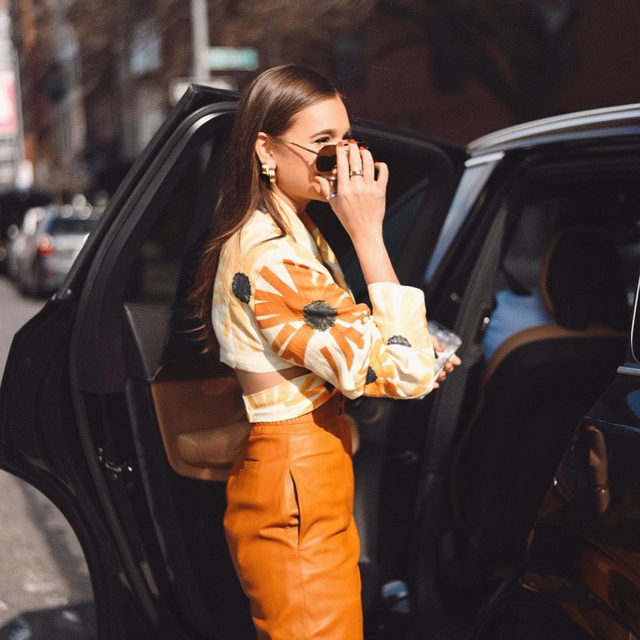 NYFW STREET STYLE| @weworewhat in the @jacquemus le haut azur top - link in bio to shop 📷 by: @atg_photo