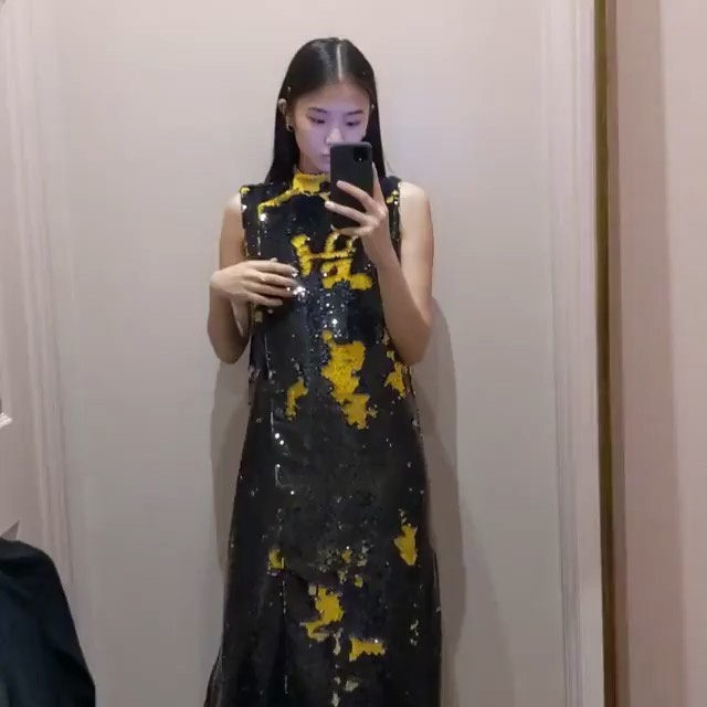 🔉 @mobilegirl is feeling our two-way #sequins dress - Link in bio to shop #GANNIGirls #GANNI202020  #ganni #soundon