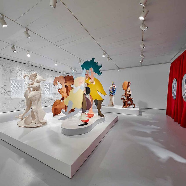 "Tonight from 6:30–8pm, Rachel Feinstein will speak at the Jewish Museum in New York on the occasion of her survey exhibition, ""Maiden, Mother, Crone,"" currently on view through March 22.  The artist will discuss the inspirations for her art, which weaves together and deconstructs binaries, underscoring that there is no reality without fantasy, lightness without darkness, or perfection without chaos. The talk will be followed by a book signing of the companion monograph published by Rizzoli Electa. Follow the link in our bio to learn more and to purchase tickets. __________ #RachelFeinstein #Gagosian @thejewishmuseum @rachelfeinsteinstudio (1, 2) Installation views, ""Rachel Feinstein: Maiden, Mother, Crone,"" Jewish Museum, New York, November 1, 2019–March 22, 2020. Artwork © Rachel Feinstein. Photos: Tom Powel Imaging; (3) ""Rachel Feinstein"" (New York: Rizzoli Electa, 2019)"