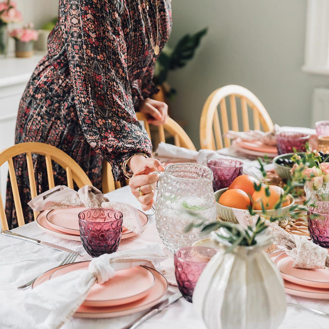 Brunching in blush 🌷 Photo by @monicabeatrice (link in profile to shop)