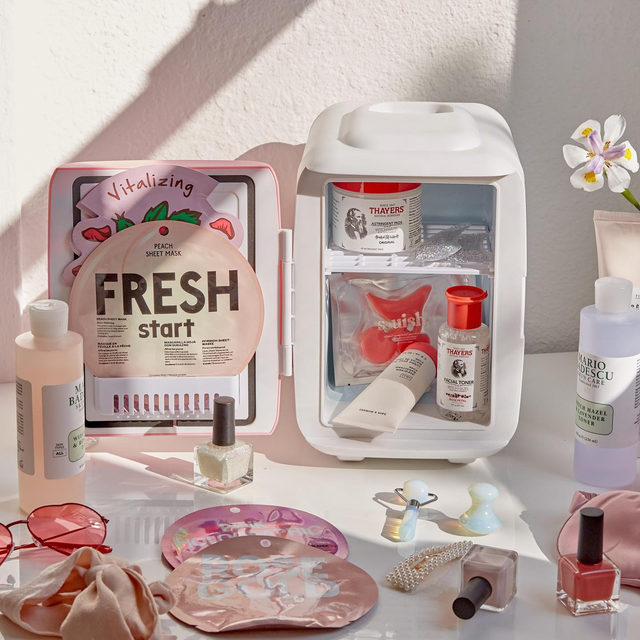 If you haven't been stocking your skincare in a mini fridge, trust us, you're missing out. Link in bio to shop all the #UOBeauty goods here (yes, including the Cooluli Mini Fridge).