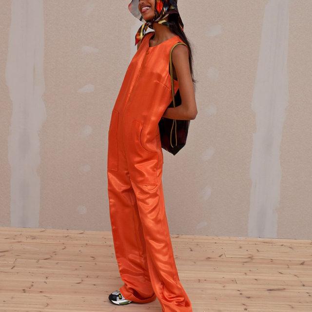 @mona_tougaard in our Normajean jumpsuit backstage at #SS20  #BaumDANCE #BaumundPferdgarten