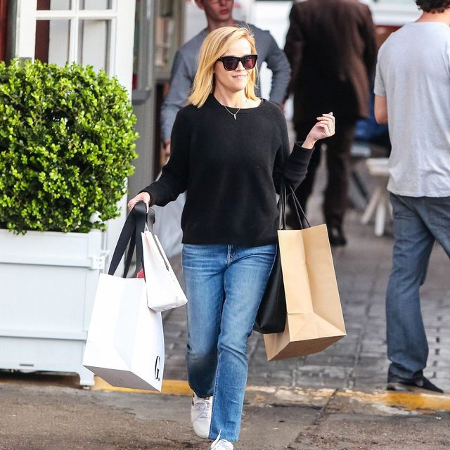 My plans today. 🛍️ Tap our link for the best sale finds to scoop up this Presidents' Day (including @reesewitherspoon's perfect straight-leg jeans here). photo: splash news