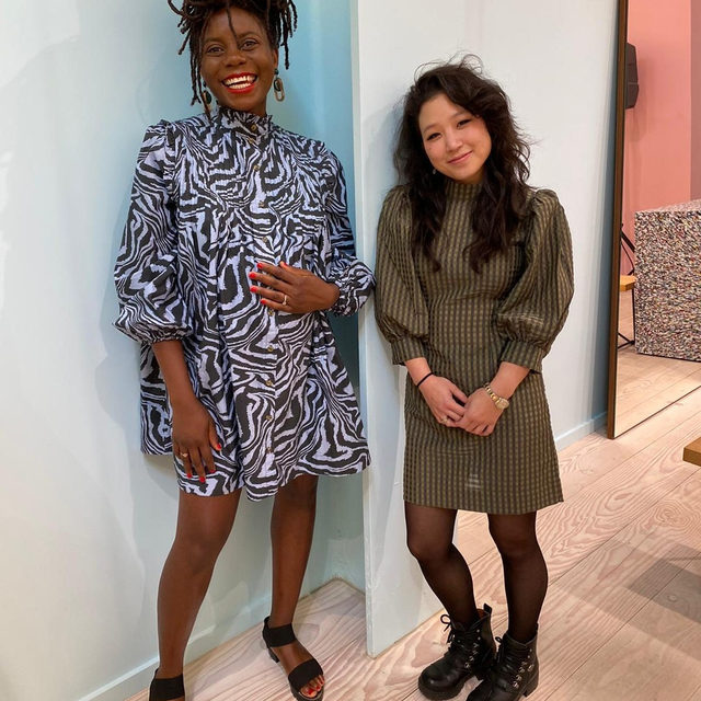 GANNI + @friezeartfair LA 'Art and My City' This weekend, we hosted an event at our GANNI MELROSE store.  #LA based photographer @sandycandykim was in conversation with curator @essenceh to talk all things art and their city. Check our story for more Frieze highlights #GANNIGirls #ganni #frieze #friezeweek #losangeles