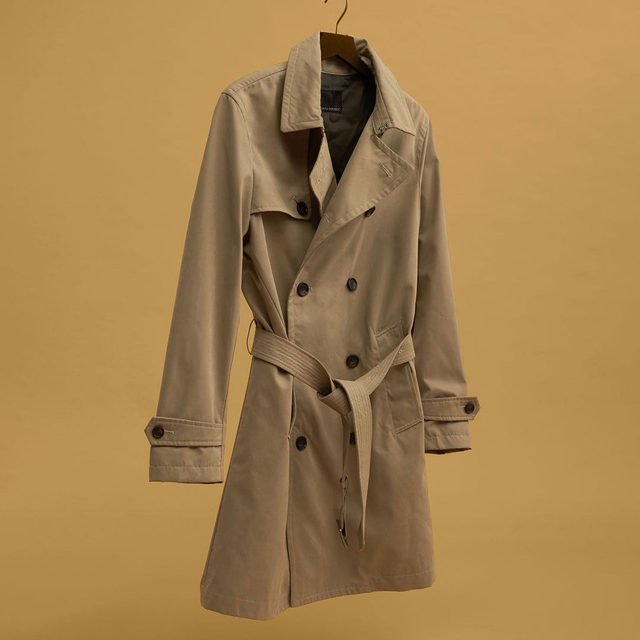 Rain or shine—This water-resistant trench coat is a fresh essential for every guy. Including you, bro.