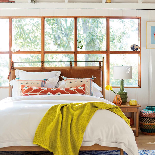 Lime, cerulean, terra-cotta, coral –  color is the hero of the thoughtful, casual home. (link in profile to shop)