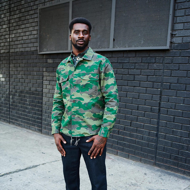 """""""Being authentic is what gets me to my goal,"""" says Mike Willie, wearing our Camo Coach's Jacket in our Bold Vision campaign. See the full story at the link in bio."""