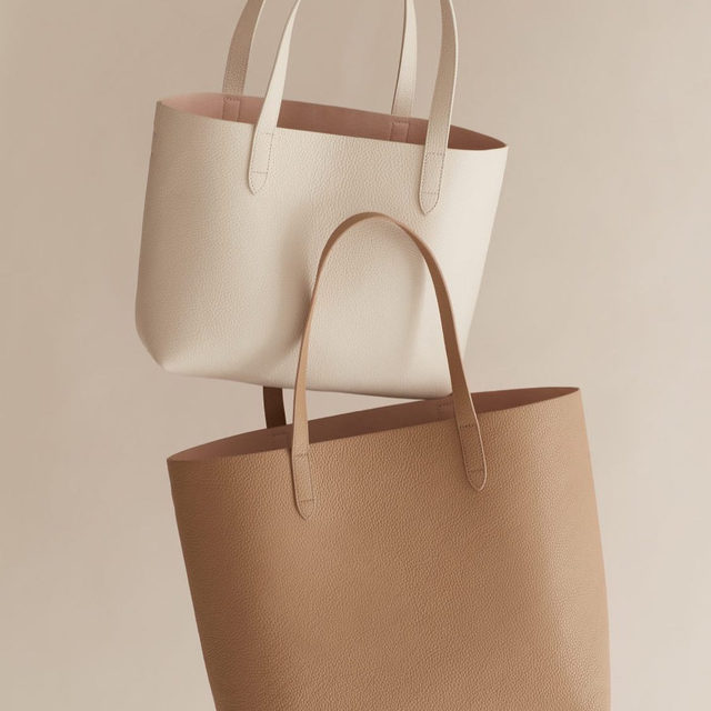 Hit the refresh button.  Our go-to totes are here in fresh new hues, Ecru and Cappuccino.