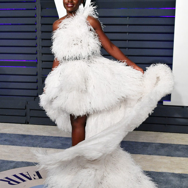 The reigning queen of the red carpet twirl. 👑 Happy birthday, @lupitanyongo! Tap our link for all the times she's hypnotized us on the red carpet. photo: getty images