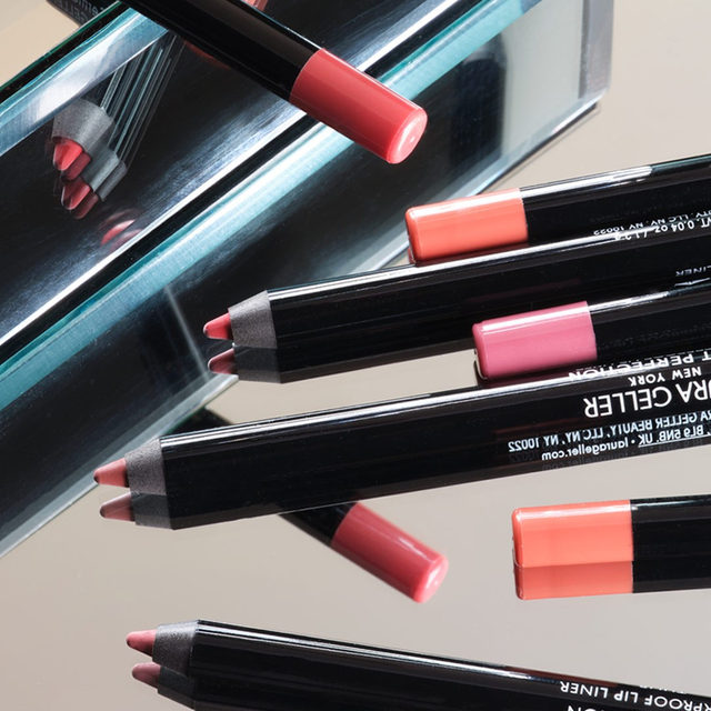 Line Those Lips 💋 Our waterproof Pout Perfection liner defines your lips and prevents lipstick colors from getting out of line! . . . #lauragellerbeauty #laurageller #poutperfection #lipliner #lipmakeup.