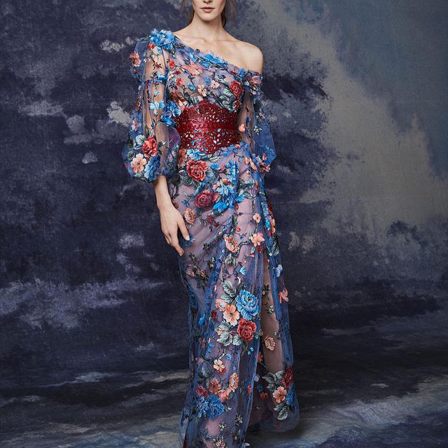 The Fall 2020 Marchesa collection is available for pre-order now. Click link in bio. #marchesa #fw20marchesa