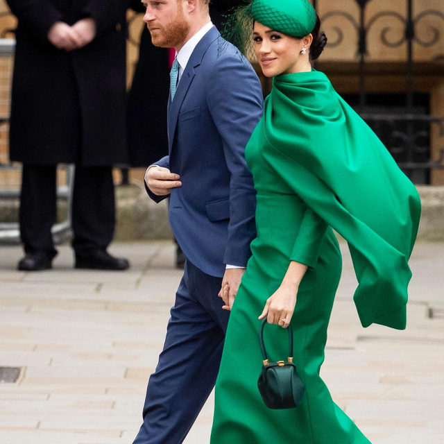 Adieu, Harry & Meghan. The pair made their final appearance as senior members of the royal family alongside William & Kate at the Commonwealth Day Service today. Tap our link for the royal trend Kate & Meghan both chose to wear for the occasion.  photos: getty images