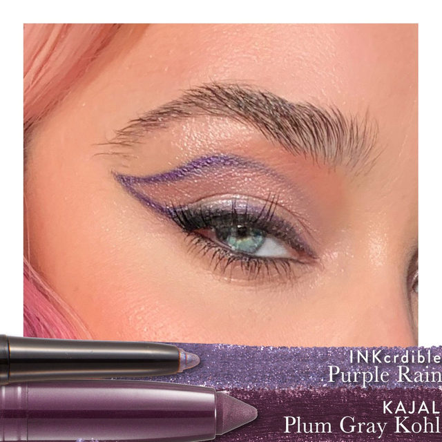 We love this eye look by @marygenemua using our INKcredible liner in 'Purple Rain' with our Kajal liner in 'Plum Gray Kohl' ✨😱💜✔️ Shop today on laurageller.com. . . . #lauragellerbeauty #laurageller #eyemakeupinspo #eyelinerinspo #makeupoftheday #makeuplooks #linergoals #INKcredibleliner #Kajalliner.