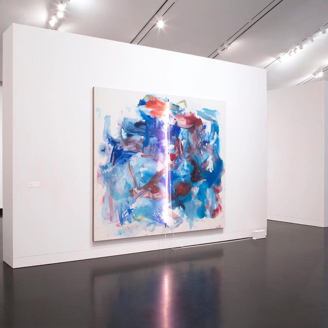 """""""Mary Weatherford: Canyon—Daisy—Eden"""" is currently on view at the Frances Young Tang Teaching Museum and Art Gallery at SkidmoreCollege, Saratoga Springs.  This exhibition presents a survey of Weatherford's career, drawing from several distinct bodies of work made between 1989–2017. Showing the artist experimenting with color, scale, and materials, these works together reveal the continuity of Weatherford's interest in human experience, both personal and historical. The exhibition is on view through July 12. Learn more via the link in our bio.  __________ #MaryWeatherford #Gagosian #TangMuseum #SkidmoreCollege @tangteachingmuseum Installation views, """"Mary Weatherford: Canyon—Daisy—Eden,"""" Frances Young Tang Teaching Museum and Art Gallery at Skidmore College, February 1–July 12, 2020. Artwork © Mary Weatherford. Courtesy the Frances Young Tang Teaching Museum and Art Gallery at Skidmore College. Photos: Arthur Evans"""