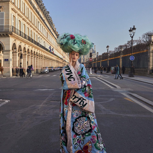 """COUTURE: TRUE OR FALSE? 🔎 The Opera """"Madama Butterfly"""", which has inspired the @DolceGabbana Alta Moda SS20 collection, is set in Paris. True or False?  Check out our Stories and have fun with the couture quiz-editorial by @SebastianFaena and styled by @TonneGood.  See more in our March Issue on newsstands and via link in bio. Full credits: Talents: @BeritHeitmann @fordmodels  Editor in chief @EFarneti Creative director @FerdinandoVerderi Casting directors @pg_dmcasting @samuel_ellis @ DM Fashion Studio Hair @SebastienBascle @callisteagency MakeUp @LiliChoimakeup @callisteagency On set @ArthuretPhilippine"""