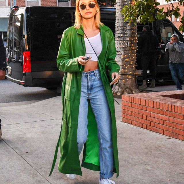 The basic white tee is spring's outfit hero, no doubt. It's the perfect base for statement pieces like this green duster. From cropped to crew-neck, tap our link for 5 stellar ways to style the affordable essential.  photo: getty images