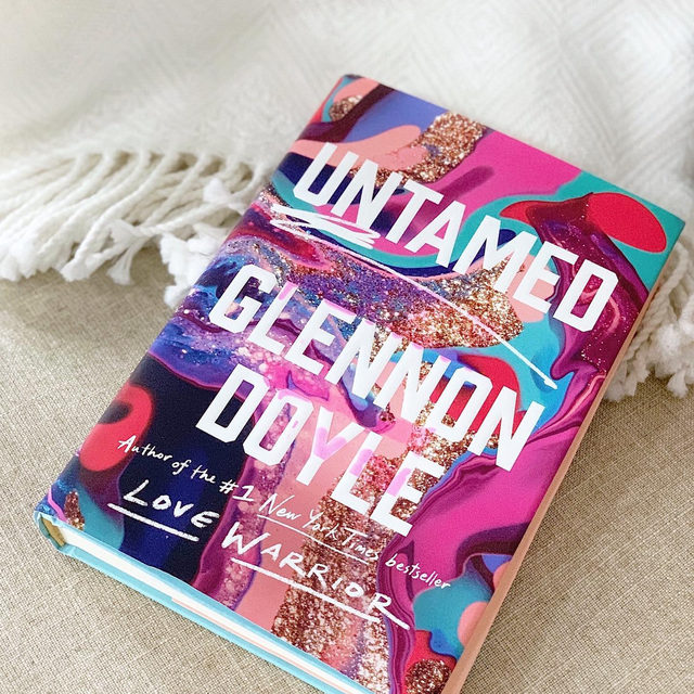 """Here is one of @eliseloehnen's favorite lines from @glennondoyle's new book Untamed: """"When a woman finally learns that pleasing the world is impossible, she becomes free to learn how to please herself."""" We loved this sentence, too, and so many others. Get your copy and hit the link in bio to hear Elise's conversation with Glennon on The goop Podcast. #goopbookclub"""