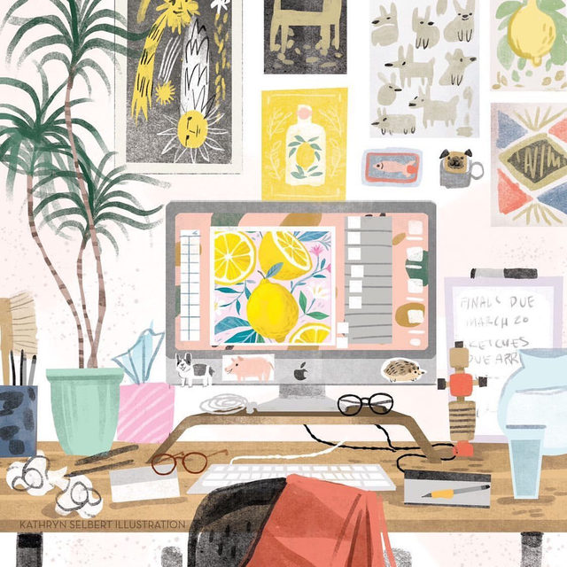 The goop team is working from home at the moment—which we're grateful to be able to do. It's an adjustment for us, so we're revisiting this story where we asked creative professionals how they arrange a productive work-from-home space. (Link in bio.) 🎨: @kathrynselbertillustration