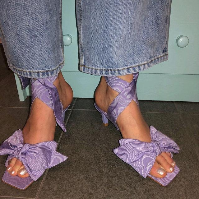 🎀🎀🎀🎀🎀🎀🎀🎀 Heeled bow sandals #GANNIDOUBLELOVE