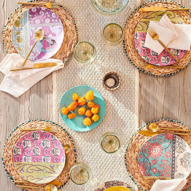 A taste of spring, featuring fresh, colorful dinnerware. Head to @anthroliving for more fun home finds. (link in bio to shop) #AnthroLiving