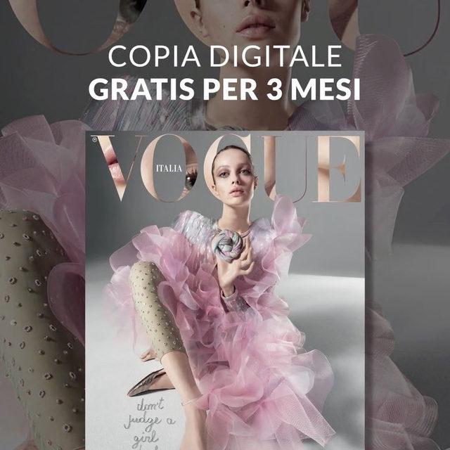 Tre mesi di copie digitali gratuite di Vogue Italia e di tutte le altre testate Condé Nast per stare vicini ai lettori e utenti in questo momento difficile, intrattenerli e informarli nei giorni dell'isolamento, e soprattutto dare loro un motivo in più per restare in casa. Scarica la App di Vogue Italia, clicca su 'Free Pass', registra il tuo account e inserisci il codice VOGUE4YOU per ottenere la tua copia digitale gratuita del magazine. #VOGUE4YOU