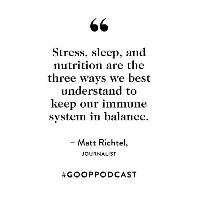 """In this special episode, Pulitzer Prize–winning journalist Matt Richtel highlights what he learned about the immune system while researching his latest book, An Elegant Defense. He shares how these lessons apply to us today as we try to slow the spread of the coronavirus and stay healthy. Our immune system, says Richtel, doesn't need a boost as much as it needs balance. """"Stress, sleep, and nutrition are the three ways we best understand to keep our immune system in balance,"""" says Richtel. Just listening to him made us feel a little less stressed. Link in bio to listen to the full episode."""