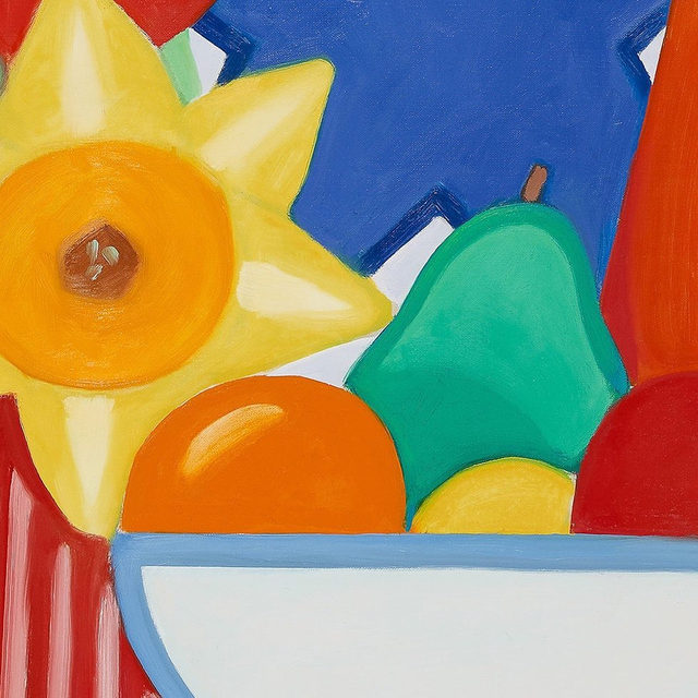 """#GagosianOnline: Tom Wesselmann's """"Still Life with Odalisque and Goldfish"""" is now on view in our Art Basel Hong Kong Online presentation at gagosian.com/fairs.  Throughout the 1990s, Wesselmann expanded upon the two major series that he developed in the 1960s and 1970s: the """"Great American Nude"""" and """"Still Life"""" paintings. """"Still Life with Odalisque and Goldfish"""" (1998–99) intriguingly joins the two series. Here, the classic still life subjects of fruit in a bowl and flowers dominate the background, while a reclining female nude and a goldfish in a bowl of water occupy the foreground.  View the presentation via the link in our bio. To receive a PDF with detailed information on the works, please contact the gallery at inquire@gagosian.com or via DM. __________ #TomWesselmann #Gagosian #ArtBaselOVR @artbasel  Tom Wesselmann, """"Still Life with Odalisque and Goldfish,"""" 1998–99 © The Estate of Tom Wesselmann/Licensed by ARS/VAGA, New York"""