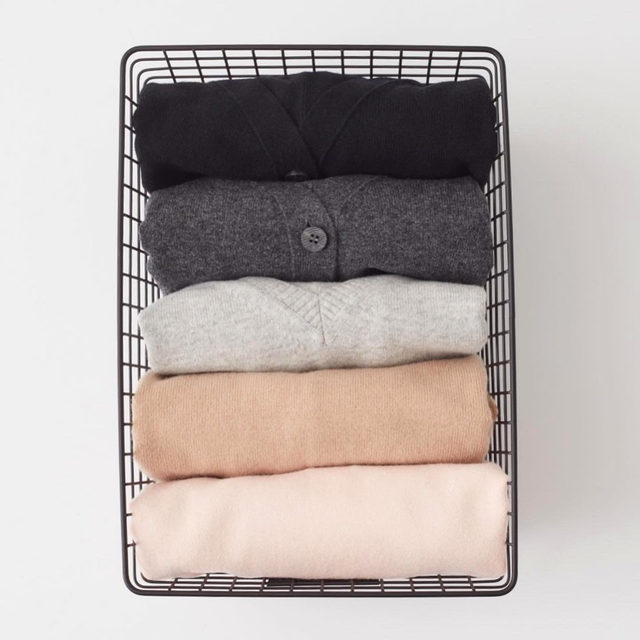 Finding comfort in color coding.  Step 3: Systemize. Sort your items based on color and how often you wear each piece. Give your most versatile, everyday items prime real estate—from your go-to carryall to your favorite sweater. Link in bio for every step in our @neatmethod process.