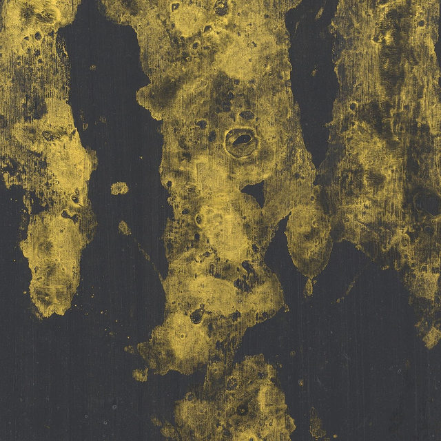 """#GagosianOnline: Georg Baselitz's 2019 painting """"Die andere Seite vom Ölfleck"""" is featured in our Art Basel Hong Kong Online presentation, now accessible through gagosian.com/fairs.  This new work, from Baselitz's recent series of gold-on-black paintings, signals a renunciation of corporeality with its repetition of simplified forms to the point of abstraction. For """"Die andere Seite vom Ölfleck,"""" the artist did not paint the figures; he painted negative space, in gold paint, then pressed a canvas covered in black paint onto the canvas laid out on the floor.  View our Art Basel Hong Kong Online presentation via the link in our bio. To receive a PDF with detailed information, please contact the gallery at inquire@gagosian.com or via DM. __________ #GeorgBaselitz #Gagosian #ArtBaselOVR @artbasel Georg Baselitz, """"Die andere Seite vom Ölfleck,"""" 2019 © Georg Baselitz"""