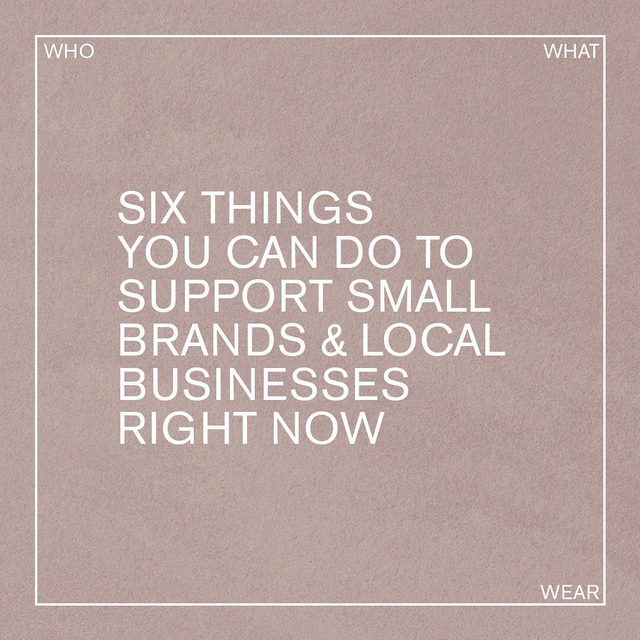 It's important now more than ever to support small fashion brands and businesses. 💛 Here are a few of our favorite ways to show them some love. Tag your favorites and add your tips in the comments below.
