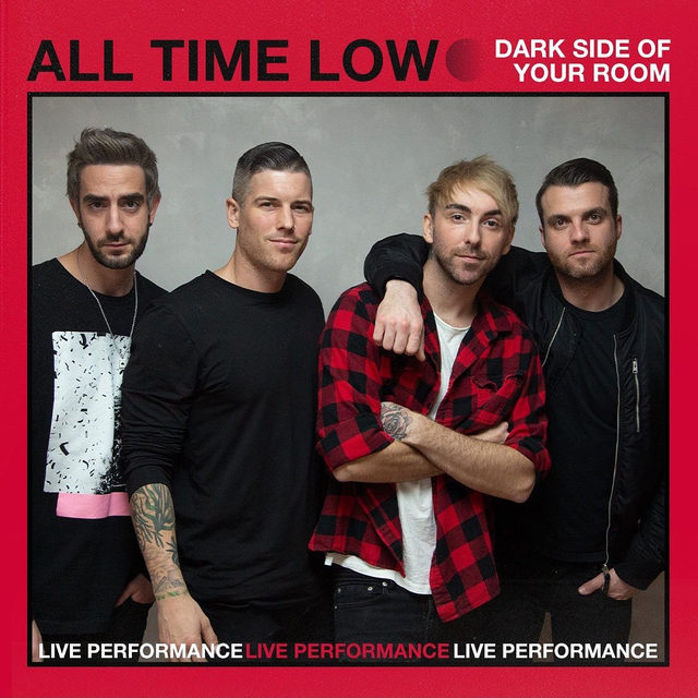 """@alltimelow is just as comfortable in an intimate acoustic setting as they are at throwing their bodies into mosh pits 🖤They stopped by for a performance of """"Dark Side Of Your Room."""" Check it out now! ⠀⠀⠀⠀⠀⠀⠀⠀⠀ ▶️[Link in bio] #AllTimeLow #DarkSideOfYouRoom"""