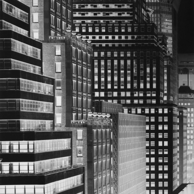 """#StayHome: Inspired by New York's light, architecture, and perpetual state of flux, Vera Lutter turned to photography in the early 1990s as a means to record the continuously changing cityscape. To capture an immediate and direct imprint of her surroundings, she transformed her own apartment into a large pinhole camera, employing the space that contained her personal experience as the apparatus that would document it. Modifying shipping containers and empty rooms to create site-specific camera obscuras, Lutter has since applied her technique to subjects across the world.  New York, where Lutter lives and works, is a returning subject for the artist. Visit """"Gagosian Quarterly"""" via the link in our bio to read an interview with the artist from 2015, in which she discusses her relationship with the city. __________ #VeraLutter #Gagosian @veralutterstudio  Vera Lutter, """"Chrysler Building: June 14, 2014,"""" 2014 © Vera Lutter"""