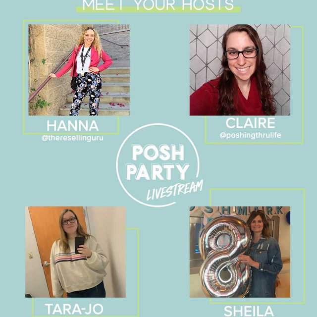 We're back with another Posh Party livestream! 🎉 Join us and these amazing co-hosts TONIGHT as we share, share, share and support one another during our Together We Posh Party livestream on YouTube @ 7pm PT. Set a reminder and watch the Host Picks roll in. We'll see you there. 🙌 Tap our link bio to join the party!