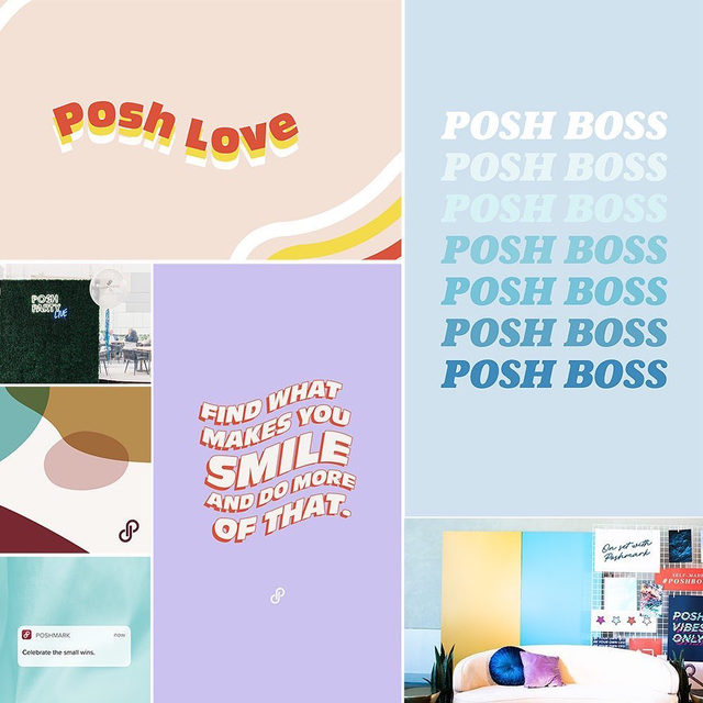 Happy #FeelGoodFriday! Digital downloads are here for your phone and computer to have all that #PoshStyle! 💜⚡️🙌🏻 Get your wallpapers and Zoom backgrounds via our link in bio. #catchyaonzoom #techyeah #theposhlife
