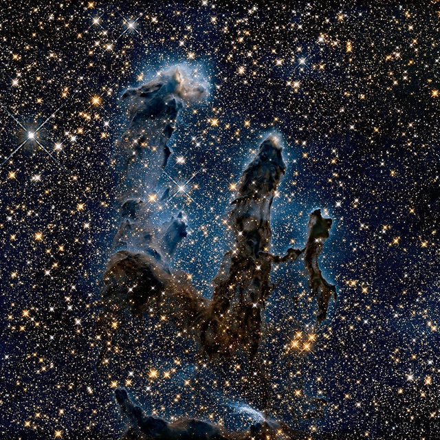 """NASA has released a new image of the famed """"Pillars of Creation,"""" and it is a show-stopper. 😍 Tap the link in our bio to learn more. 📸: NASA/Hubble Heritage Team"""
