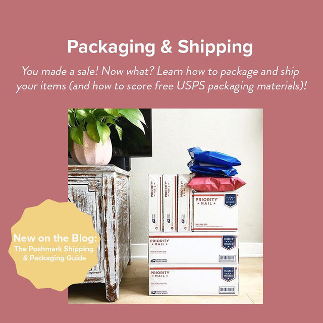 ON THE BLOG: the Shipping & Packaging Guide has everything you need to know from the moment you make a sale! 💰 Did you know? ⤵ ⠀ ⠀ 1⃣ You can schedule a pick-up online via USPS! For #PoshmarkCanada, you can register as a small business (for free!) and schedule a pick-up for a small fee. ⠀ ⠀ 2⃣ Score 10% off an order of @noissueco polymailers. Perfect for sending out all your Posh sales...and they're compostable! (Promo code: poshmarkxnoissue) ⠀ ⠀ 3⃣ Get ready for an awesome giveaway here on Instagram tomorrow morning: hint - you'll have no issue with these prizes.⠀ ⠀ Tap our link in bio for more tips, tricks, and all the perks that come with shipping through Poshmark.
