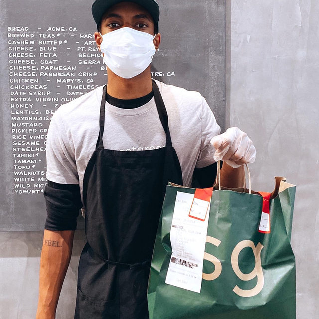 The team at 8th and Hill keeping you safe + fed. We've ramped up our already rigorous safety standards — so you can get your greens tamper-free, contact-free, and worry-free.