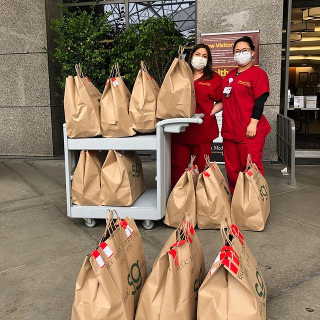 Can't stop. Won't stop. Thanks to @UberEats for championing the SG Impact Outpost Fund with meals in support of Keck Medicine of USC all month long.