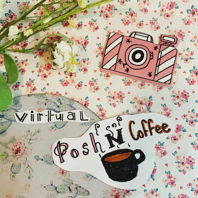 Up and at 'em! Let's get going with today's virtual #PoshNCoffee events. Today's topic: Photo Editing Tips & Tricks. 🤳 Tap our link in bio to find a virtual event to tune into this morning! (📸: @sharesomestyleco)